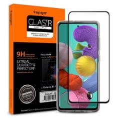 Spigen Full Cover zaščitno steklo za Samsung Galaxy A51, črna