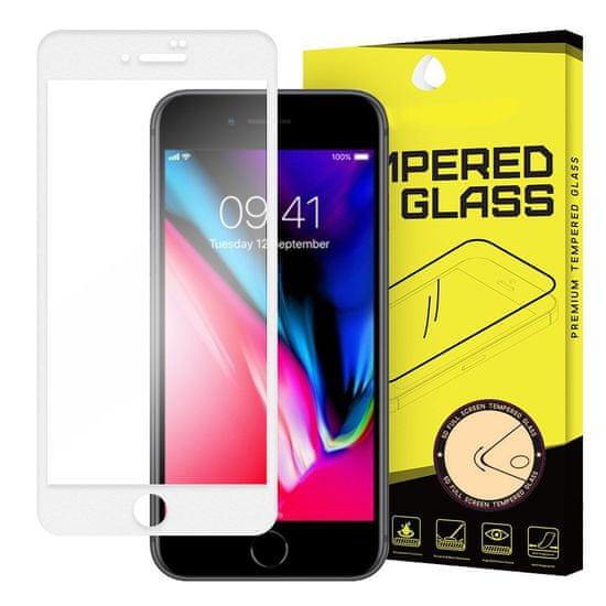MG Full Glue Super Tough zaščitno steklo za iPhone 7/8/SE 2020, bela