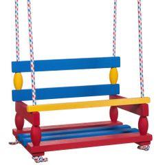 Teddies Houpačka dřevo barevná 38x30cm