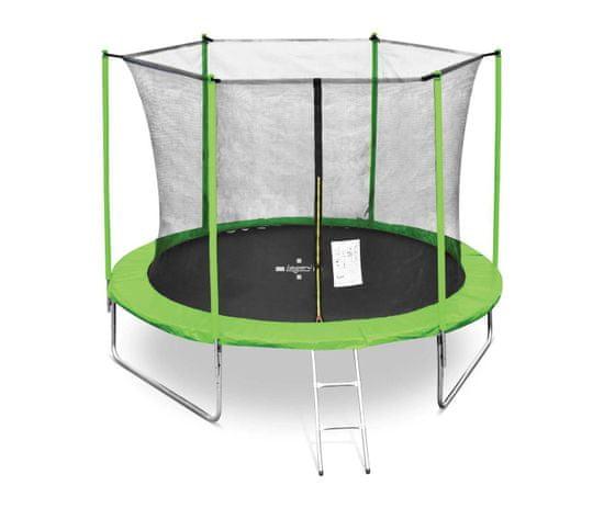 Legoni Fun trampolin, sa zaštitnom mrežom i ljestvama, 305 cm, zeleni