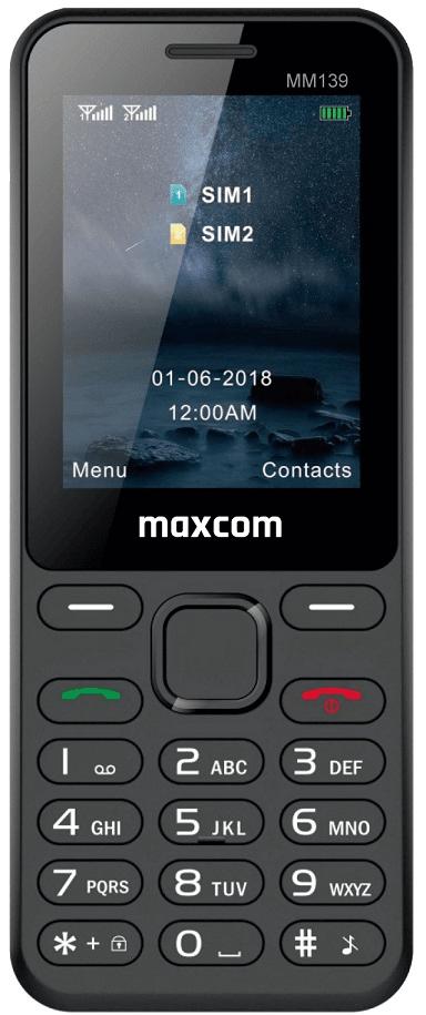 MaxCom MM139, černý - zánovní