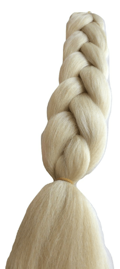 Vipbejba Lasni podaljški za pletenje kitk, #613 svetlo blond