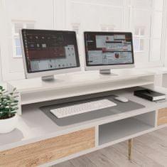 shumee Podstawka pod monitor, biała, 100x24x13 cm, płyta wiórowa