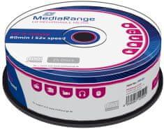 MediaRange CD-R 700MB 52x spindl 25ks (MR201)
