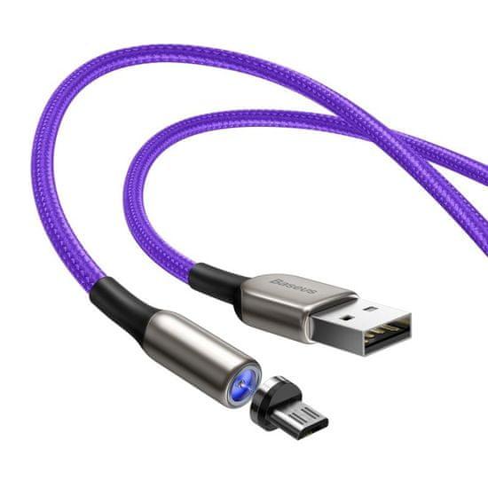 BASEUS Zinc mágneses kábel USB / Micro USB 2A 1m, lila