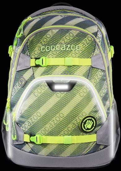 CoocaZoo plecak szkolny ScaleRale, MeshFlash Neongreen, certyfikat AGR