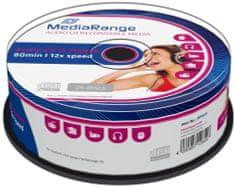 MediaRange CD-R AUDIO 700MB 12x spindl 25ks (MR223)