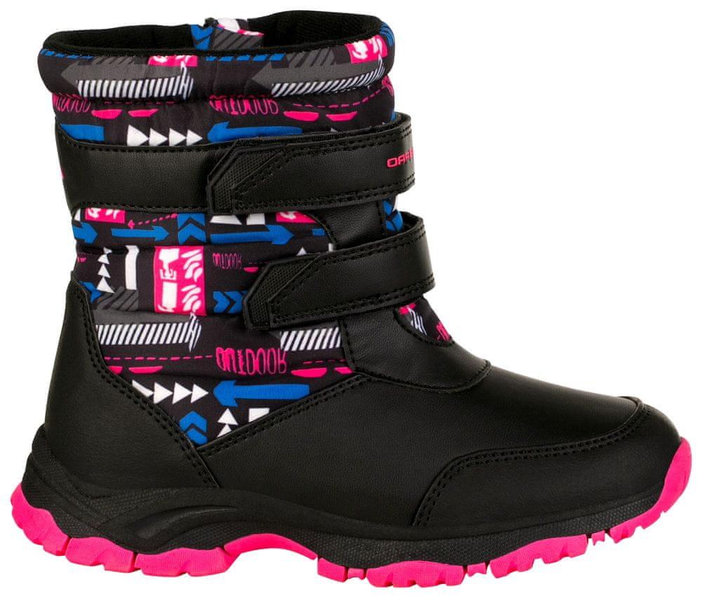 ALPINE PRO dívčí zimní obuv VOLOSO KBTS260452 27 černá/růžová