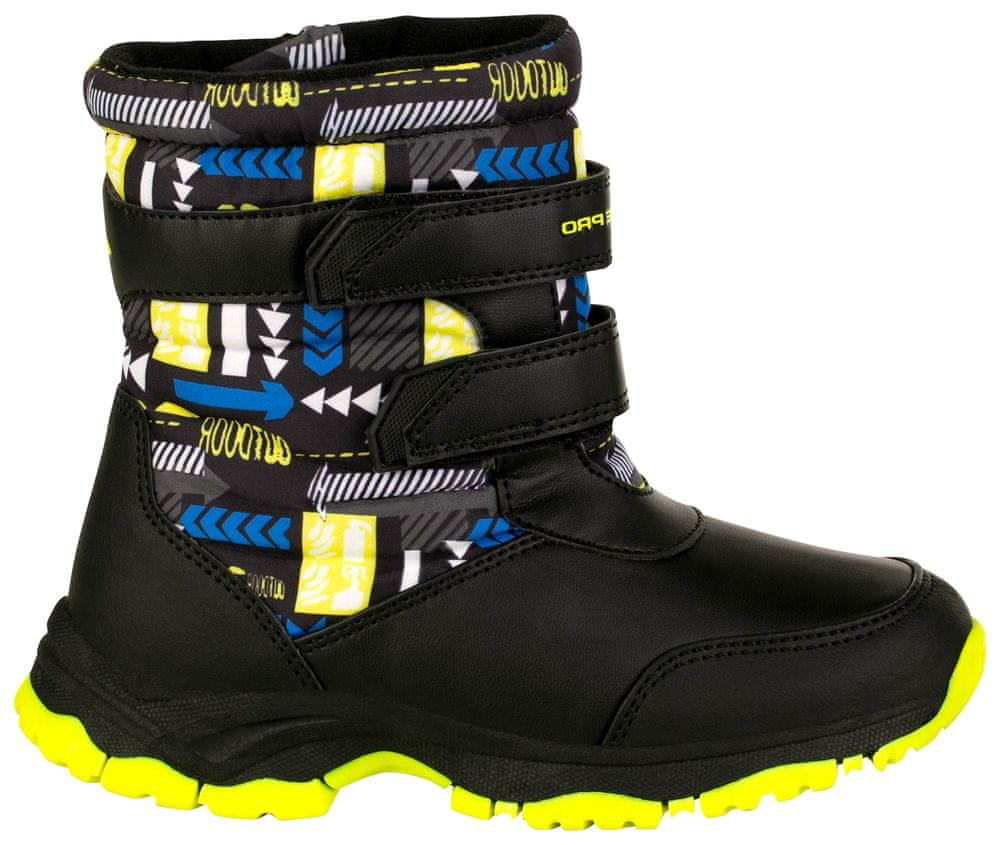 ALPINE PRO dětská zimní obuv VOLOSO KBTS260530 24 žlutá