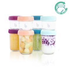 Babymoov sklenené misky s viečkami MULTISET (4x 120ml + 4x 240 ml)