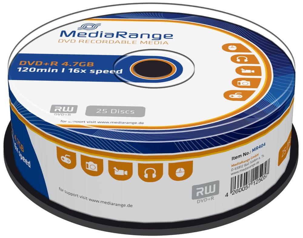 MediaRange DVD+R 4,7GB 16x spindl 25ks (MR404)