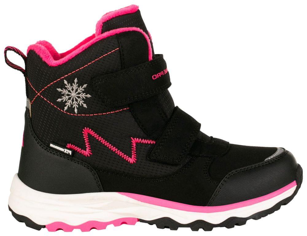 ALPINE PRO dívčí zimní obuv MOKOSHO KBTS261990 34 černá/růžová