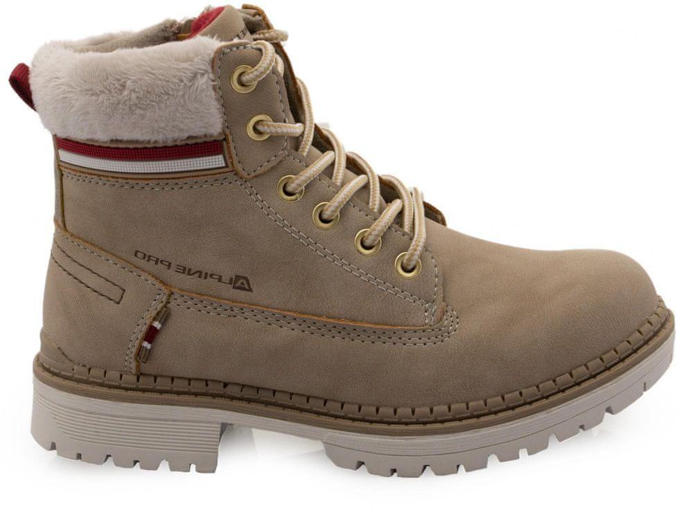 ALPINE PRO dětská zimní obuv FEWRO KBTS268112G 33 béžová