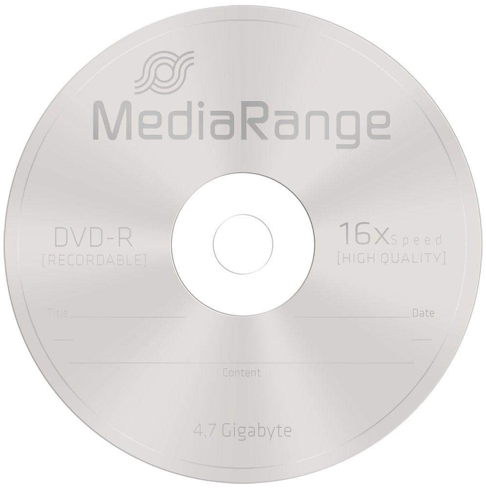 MediaRange DVD-R 4,7GB 16x slimcase 5ks (MR418)