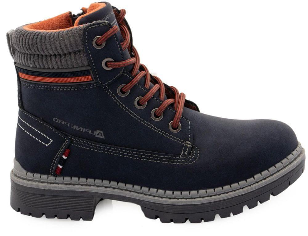 ALPINE PRO dětská zimní obuv FEWRO KBTS268602G 33 modrá