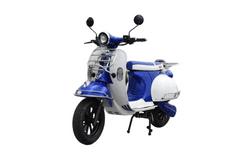 DONGMA Vespo, modro-bílý elektrický skútr