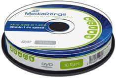 MediaRange DVD-R 8cm 1,4GB 4x spindl 10ks (MR434)