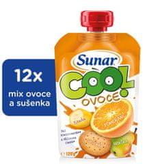 Sunar kapsička Cool ovoce Pomeranč, banán, sušenka 12 x 120g