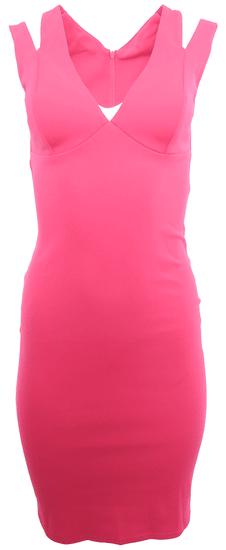 City Goddess Růžové šaty s průstřihy City Goddess Růžová M