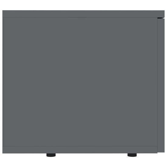 shumee Szafka pod TV, szara, wysoki połysk, 80x34x30 cm, płyta wiórowa