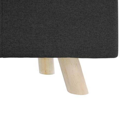 Greatstore Stolček za noge temno siv 80x28x26 cm blago