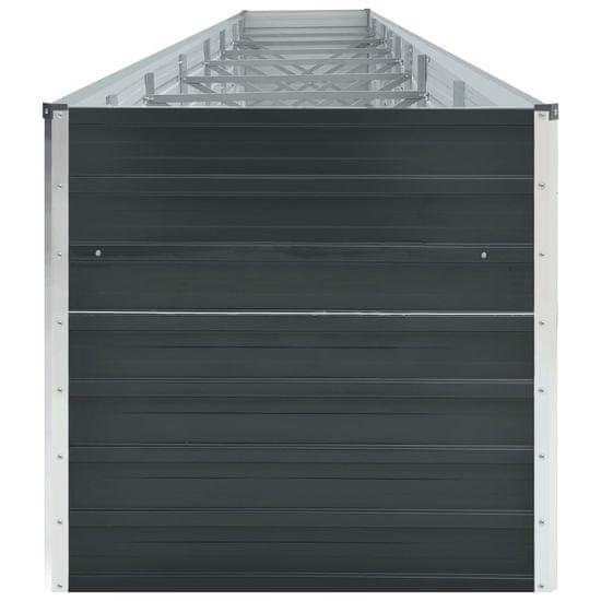 shumee antracitszürke horganyzott acél kerti magaságyás 600x80x45 cm