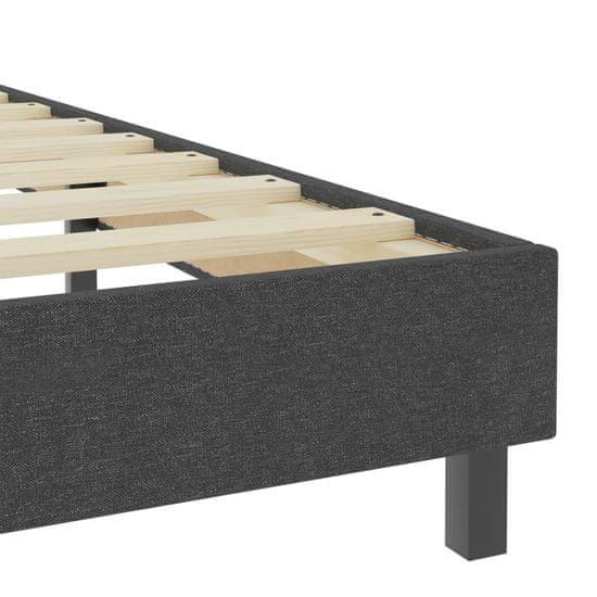 shumee Boxspring postelja temno siva iz blaga 180x200 cm