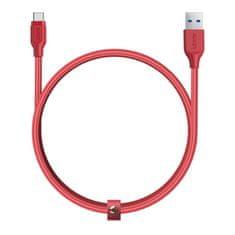 Aukey nabíjecí / datový kabel USB 3.1 a USB-C 1,2m červená