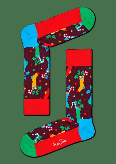 Happy Socks trojité balení unisex ponožek 3-Pack Holiday Socks Gift Set XWLD08-0100