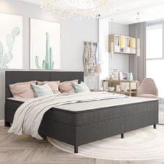 shumee Boxspring postelja temno siva iz blaga 200x200 cm