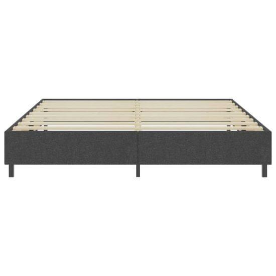 shumee Boxspring postelja temno sivo blago 200x200 cm