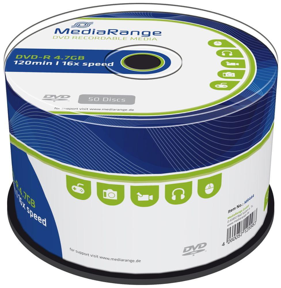 MediaRange DVD-R 4,7GB 16x spindl 50ks (MR444)
