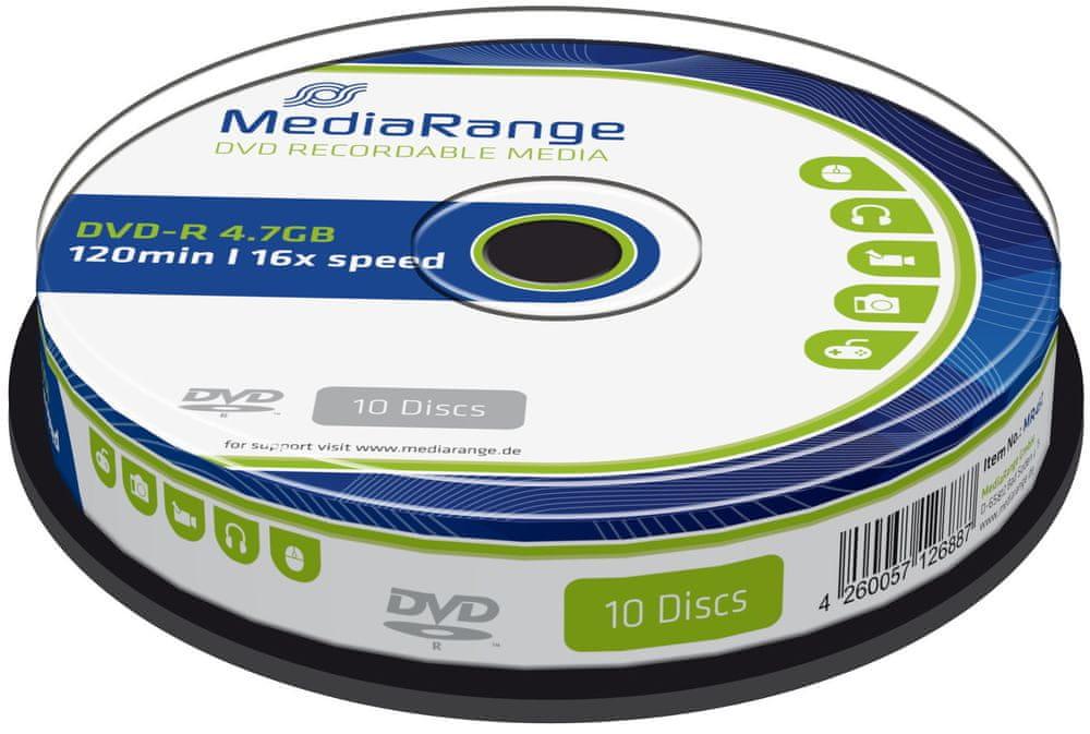 MediaRange DVD-R 4,7GB 16x spindl 10ks (MR452)