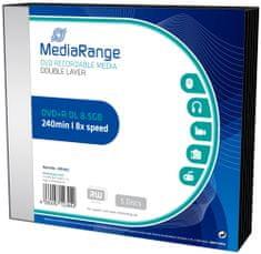 MediaRange DVD+R 8,5GB 8x Dual Layer slimcase 5ks (MR465)
