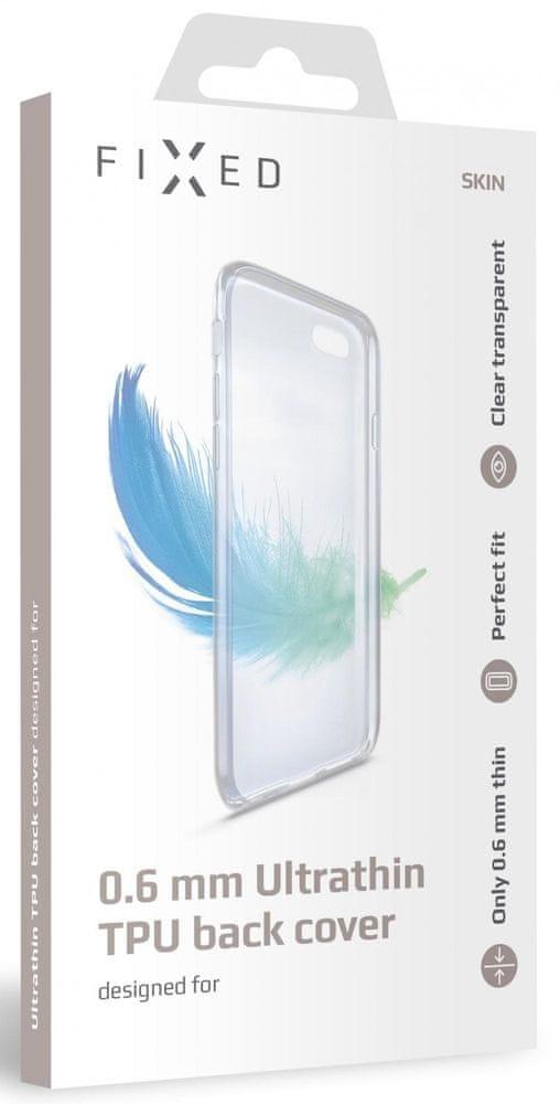 FIXED Ultratenké TPU gelové pouzdro Skin pro Samsung Galaxy A21s, 0,6 mm FIXTCS-552, čiré