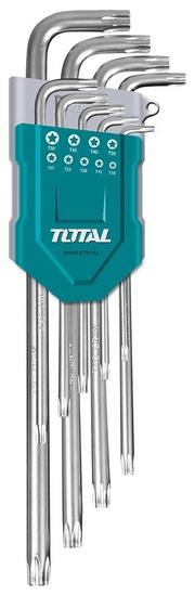 Total One-Stop Tools L-klíče TORX, sada 9ks, prodloužené, CrV, industrial