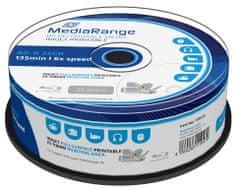 MediaRange BD-R BLU-RAY 25GB 6× spindl 25 ks Inkjet Printable (MR515)