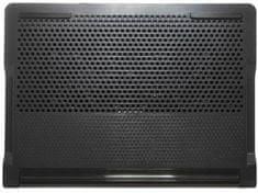 Targus Chladící podstavec Chill Mat pro notebook 17″, 4×USB, 2 ventilátory AWE81EU, šedá/černá