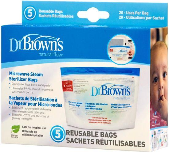 Dr.Brown´s Sáčky na sterilizaci v mikrovlnné troubě 5ks