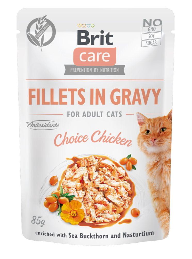 Brit Care Cat Fillets in Gravy Choice Chicken 24x85 g