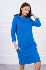 Kesi Šaty s kapucí a kapsami, modrá, velikost Universal