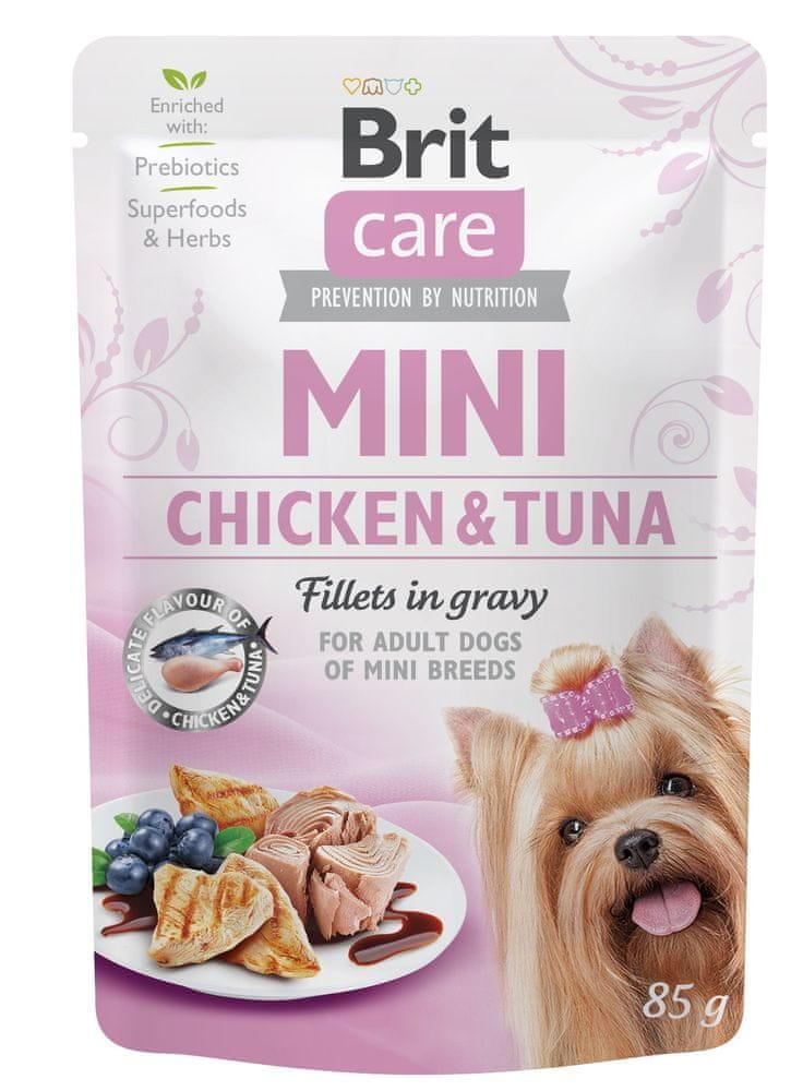 Brit Care Mini Chicken&Tuna fillets in gravy 24x85 g