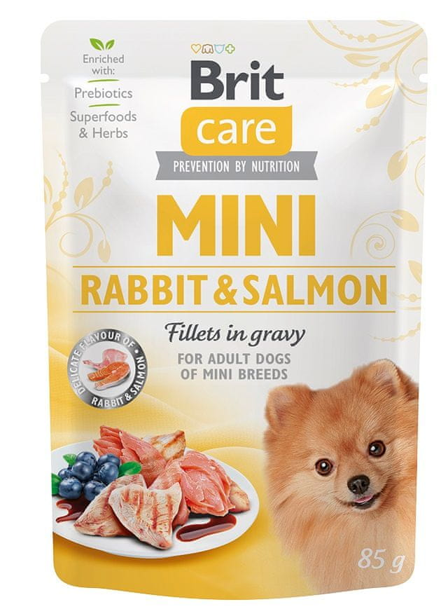 Brit Care Mini Rabbit&Salmon fillets in gravy 24x85 g