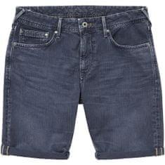 Pepe Jeans pánské šortky Stanley Short PM800793YE3 30 modrá