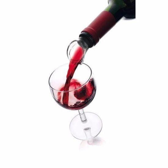 VACUVIN Výlevka na víno , čierna, 2 ks