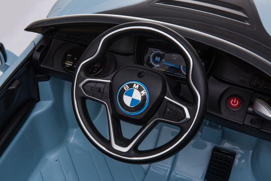Eljet Detské elektrické auto BMW i8 Coupe svetlomodrá