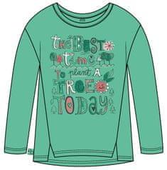 Boboli dívčí tričko ORGANIC 104 zelaná