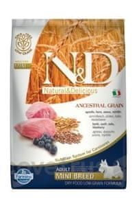 N&D LG DOG Adult Mini Lamb & Blueberry 7 kg