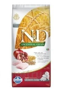 N&D LG DOG Puppy M/L Chicken & Pomegranate 12 kg