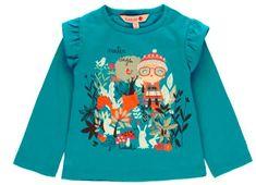 Boboli dívčí tričko s dlouhým rukávem GENTLE EARTH 80 modrá
